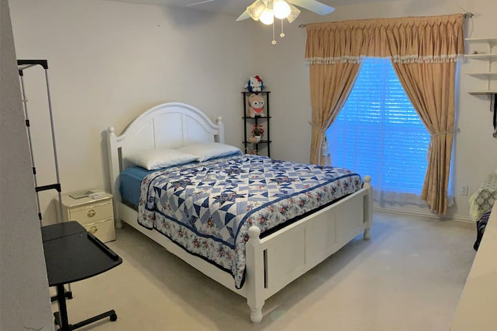 Spacious bedroom with 24/7 access code