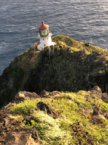The Hike to the Makapuu Light House is about 10 minutes away.  The walk is paved and only takes is a little over an hour.