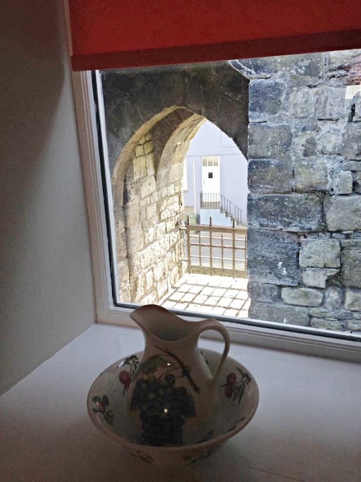 View of castle arch from one of the bedrooms.