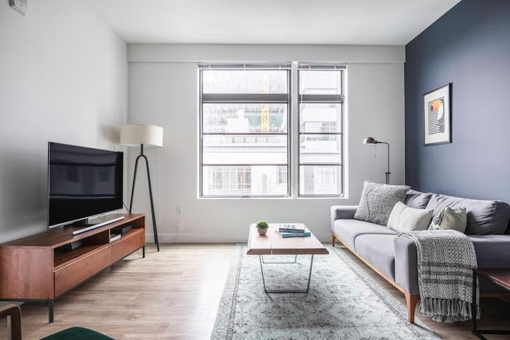 Cozy Somerville 1BR w/ Gym, Doorman, nr. Assembly Row, by Blueground
