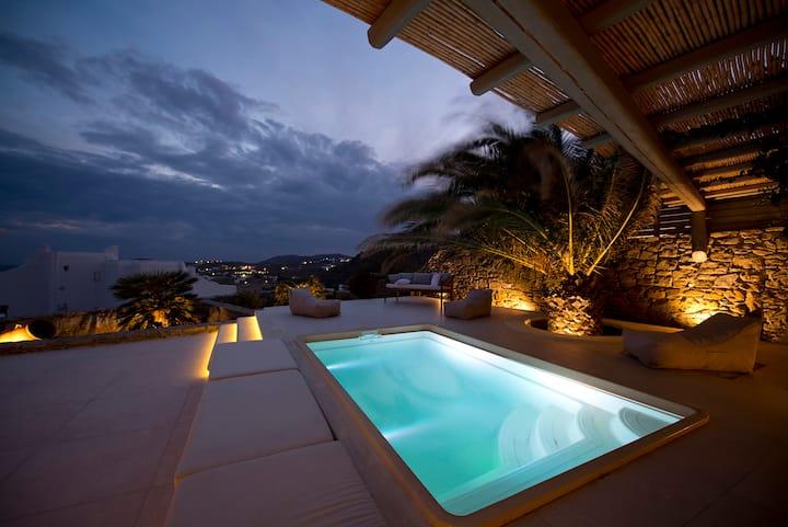 Luxury villa Mersini, plunge pool, sea view