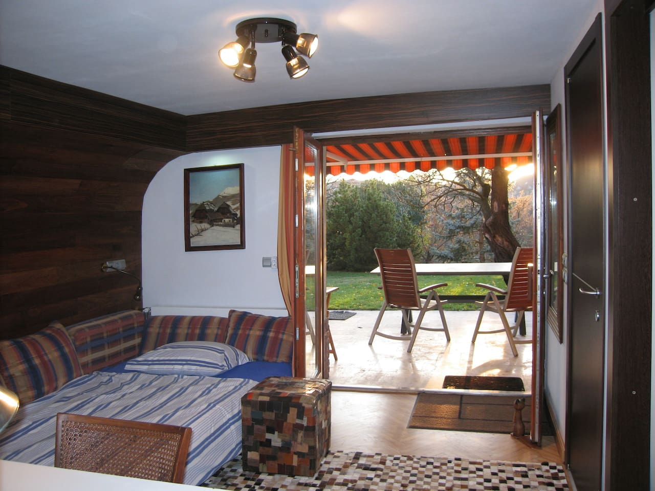 Room and terrace
