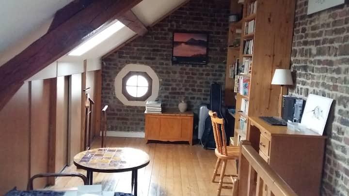 Chambre à 2 lits simples à Compiègne
