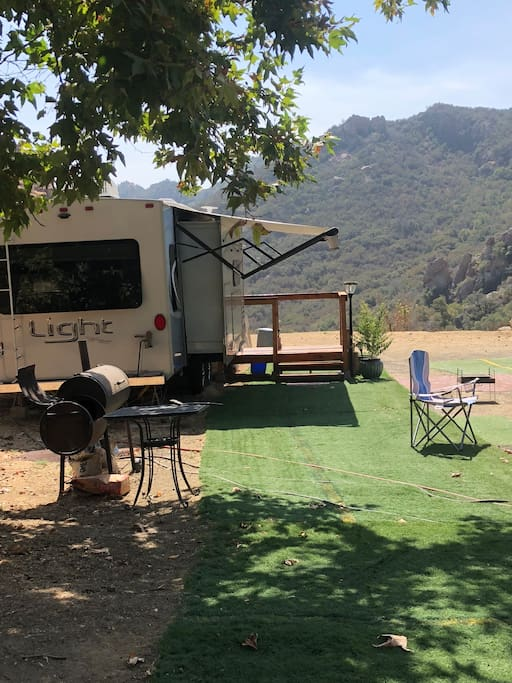 You are surrounded by the beautiful peaceful Santa Monica Mountains.