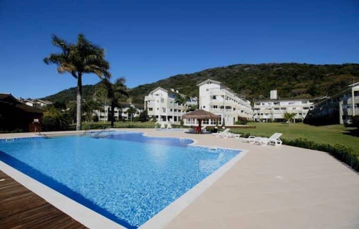 Fantástico Resort vista frente Lagoa da Conceição
