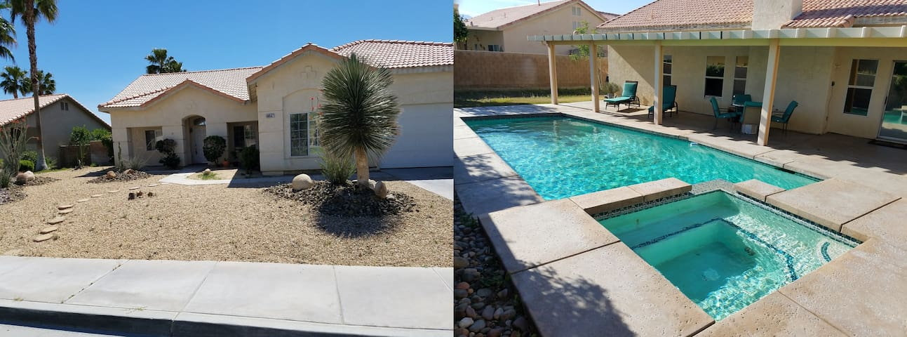 Sunny and spacious entire house with pool+jacuzzi - Cathedral City - Hus