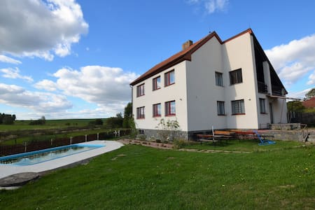Spacious holiday home with 7 bedrooms and pool in South Bohemia