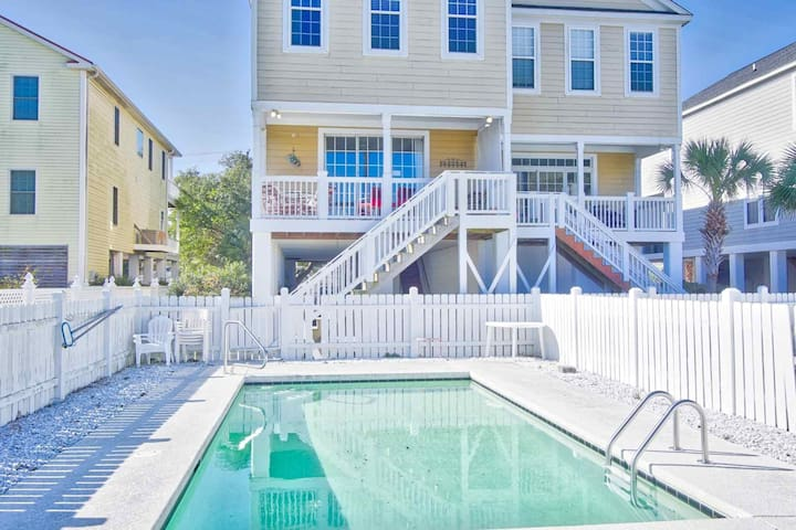 "Live Large at ""Beachside Blessings"", 5 BR, Big Private Pool, a Block to the Beach, Family Rates! - Murrells Inlet - Rumah"