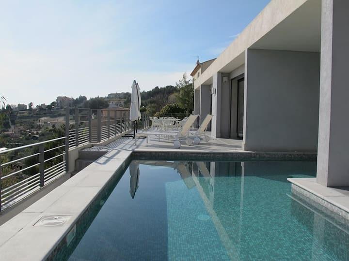 Villa d'architecte  5* Nice colline de St Pancrace