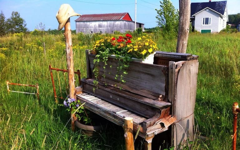 The gardening piano-Bed and concert