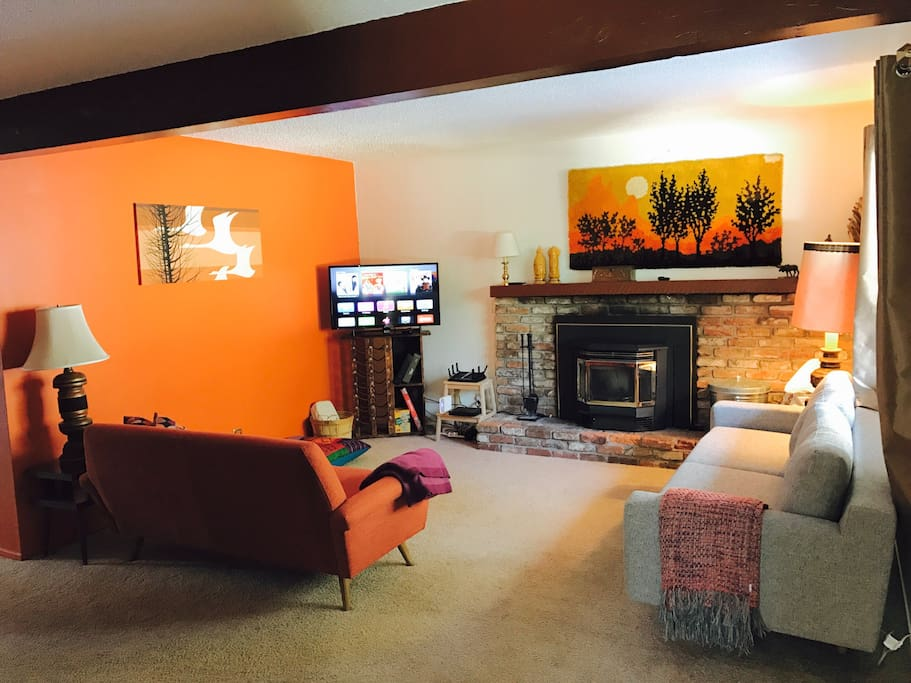 The living room is fantastic for relaxation and comfort.
