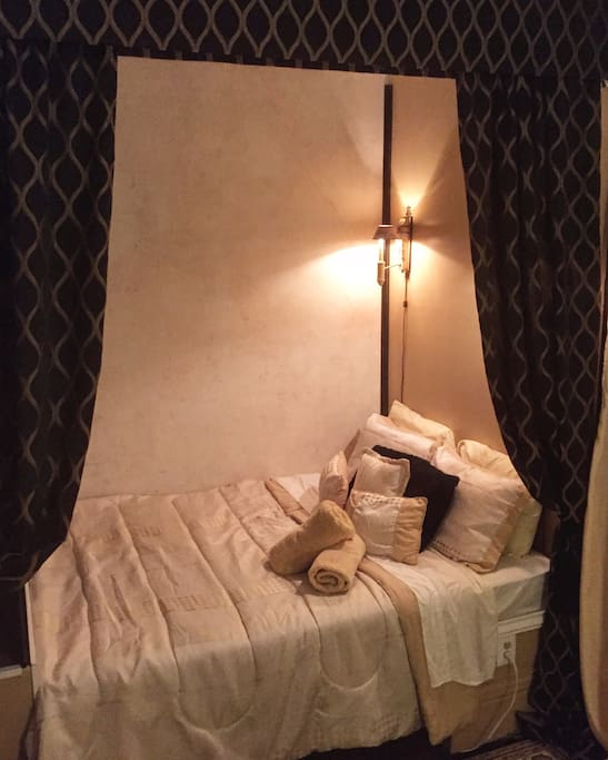 Maybe this room. The original 1860's masters chamber with very romantic alcove bed.