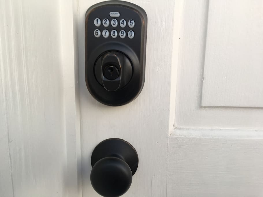 Numbered deadbolt lock -- don't have to worry about losing keys