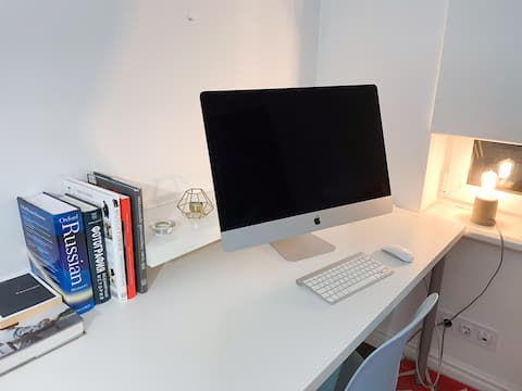 Квартира для работы или отдыха, с компьютером