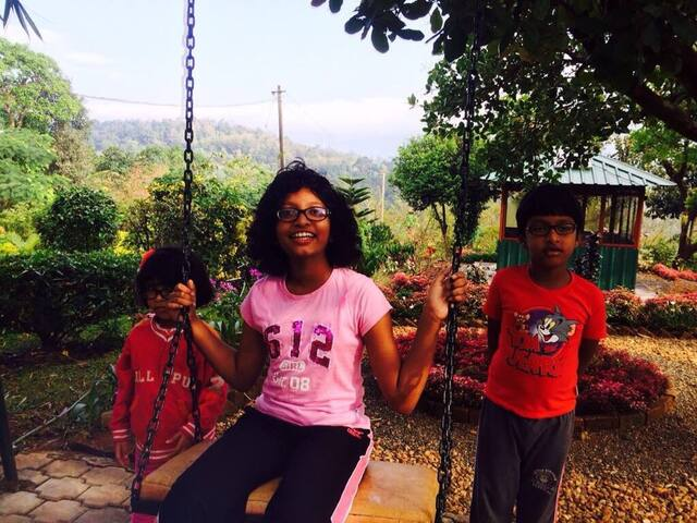 Enjoying the swing
