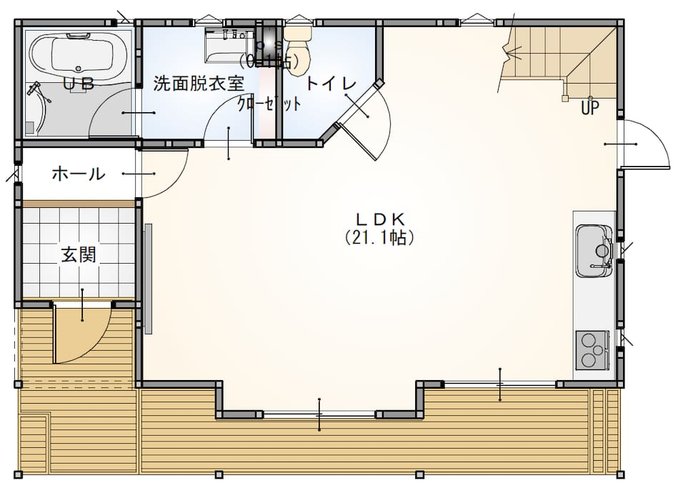 1st Floor with open design