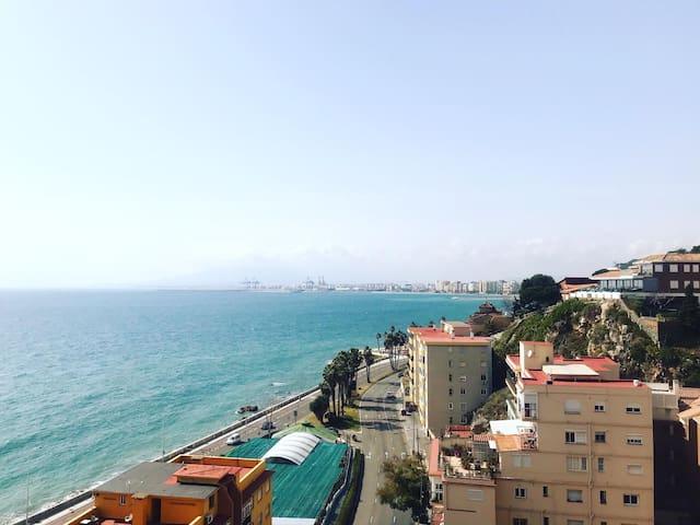 Beach apartment in Malaga with terrace