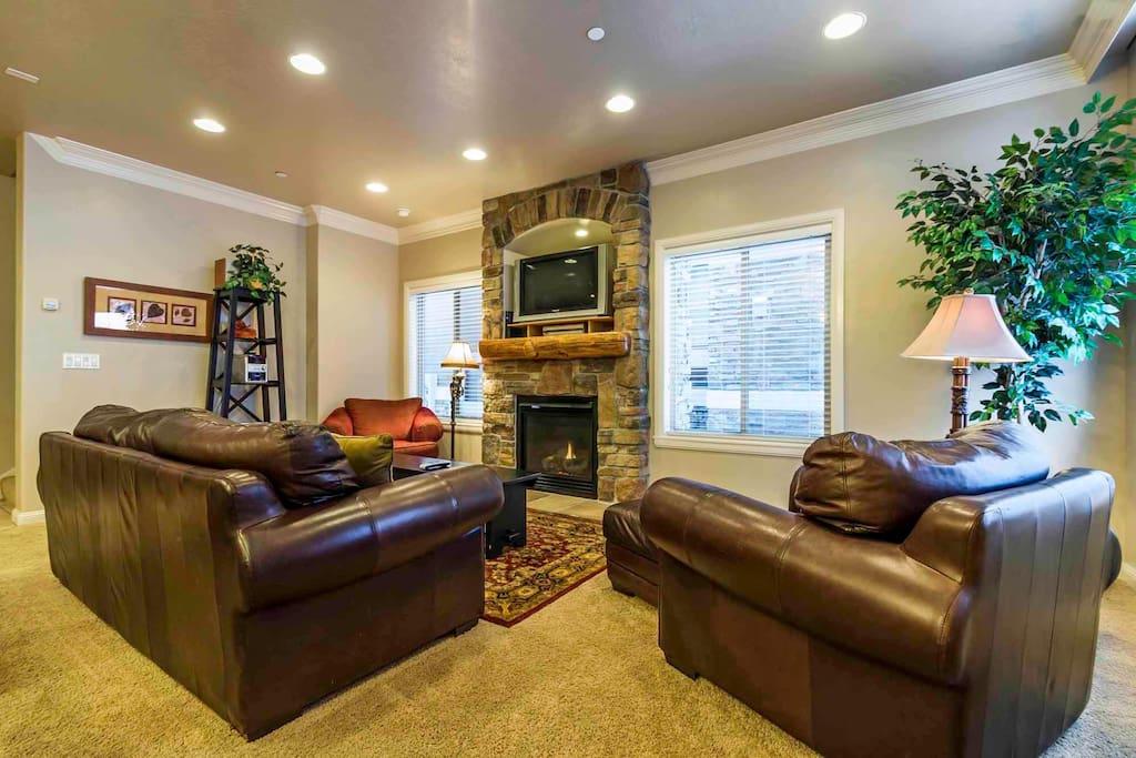 Large Living area/gas firepla