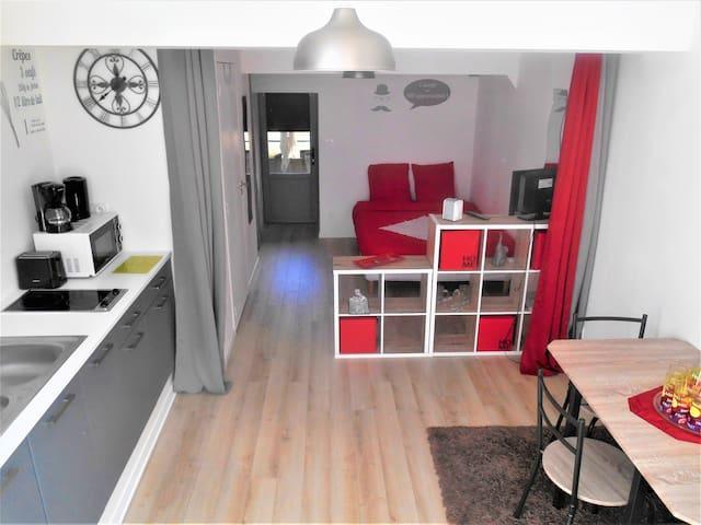 Agréable studio neuf tout équipé 25m2