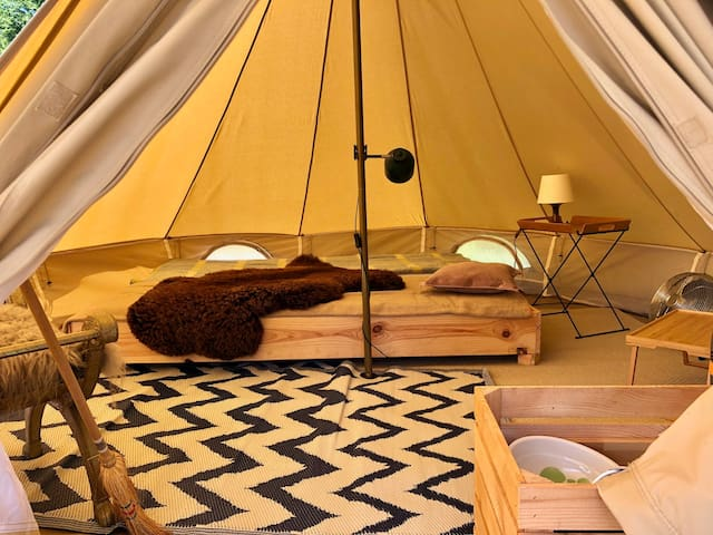 3. Glamping Camping Dijk&Meer Incl privé sanitair