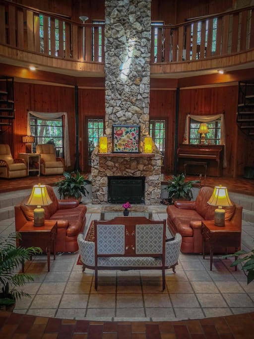 View of the Common Area upon entering the lodge.