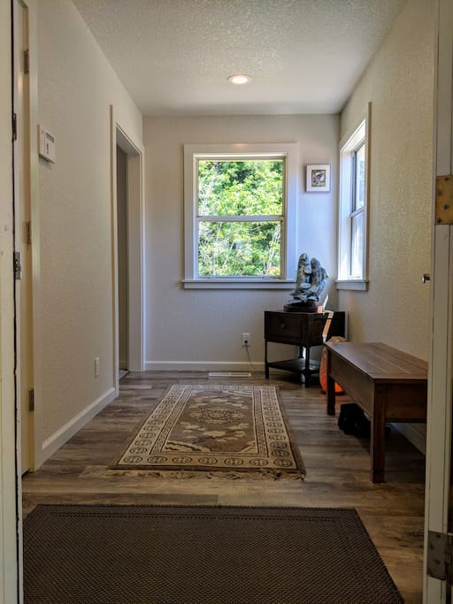 Large entry with closet