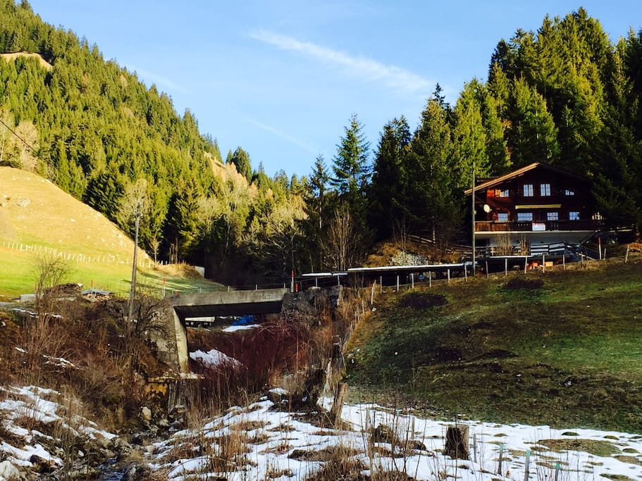 Chalet on the right hand side of the picture