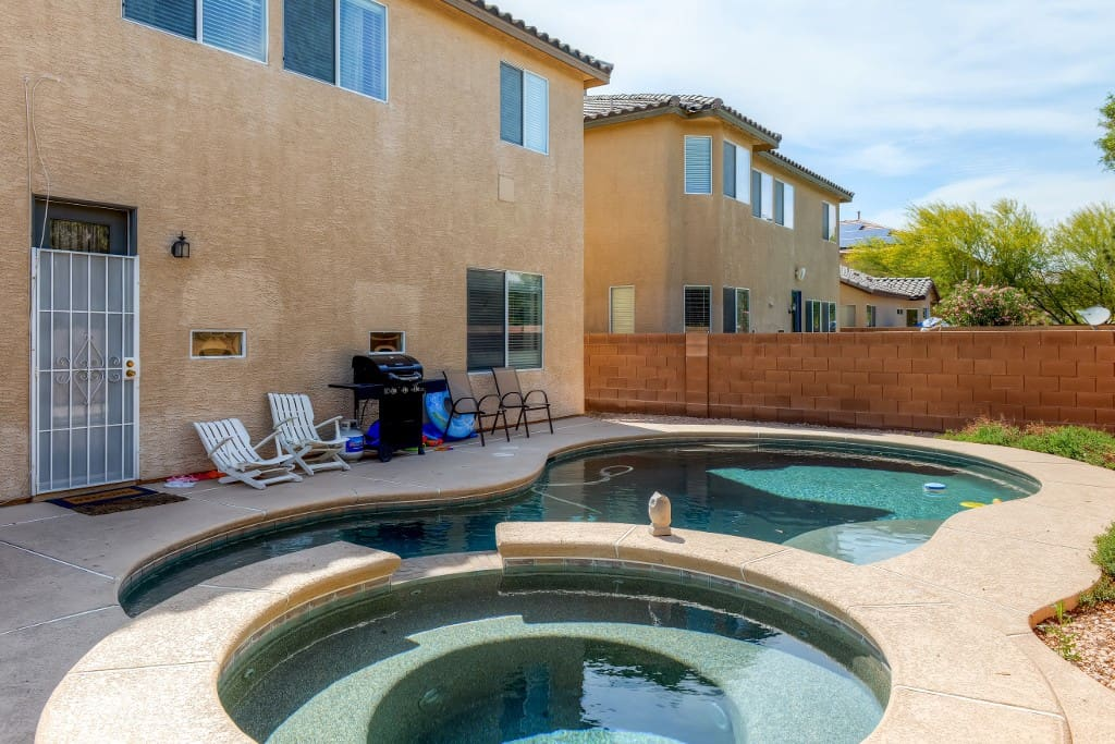 There's nothing better than lounging by your own private pool!