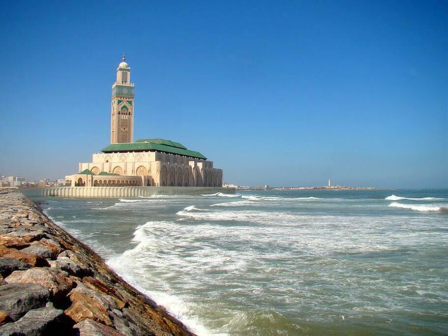 Vue sur mer et mosquée Hassan 2