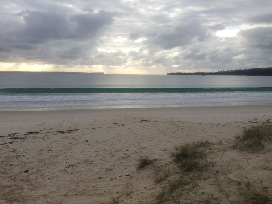 Beautiful Collingwood Beach is only 100 metres away