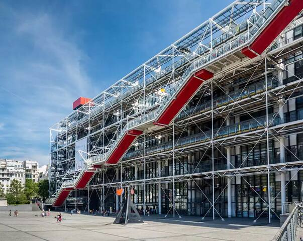 Studio Centre Pompidou, Le Marais, center of Paris