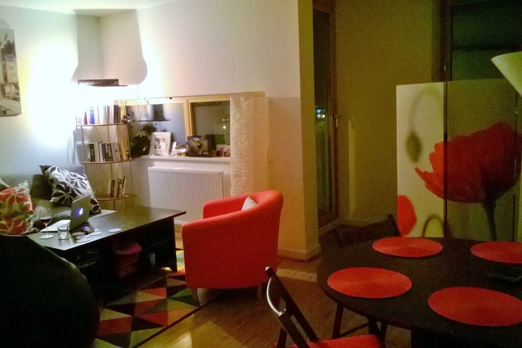 Lounge/Kitchen/Balcony