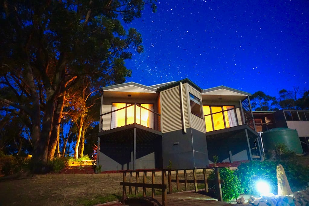 Our beautiful suites really light up on a starry Australian evening.