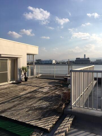 Beautiful large oceanfront balcony! - 福岡市 - Apartment