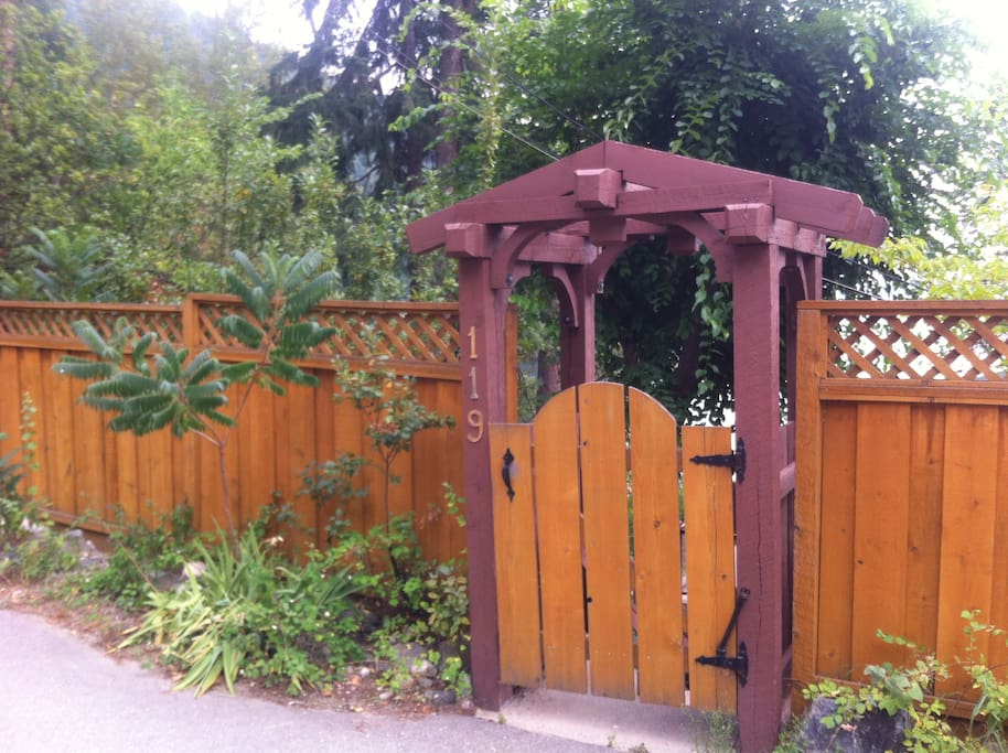 Entry gate to the Chalet