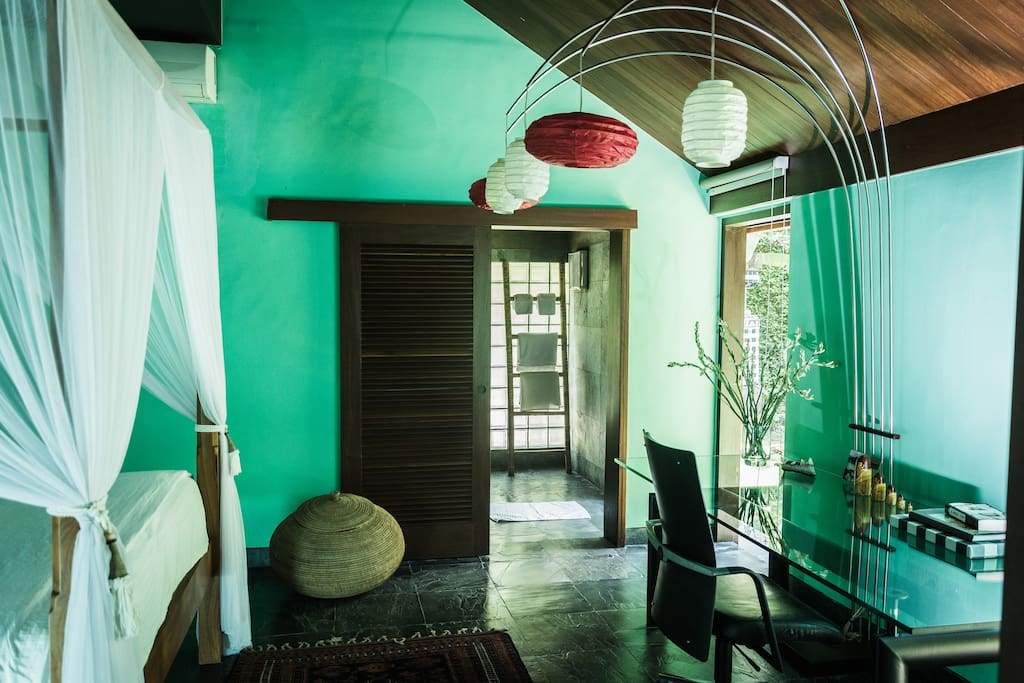 Garden suite in villa near beach h user zur miete in for Traditionelles haus bali