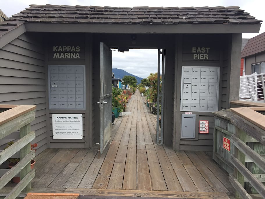 entrance to our pier