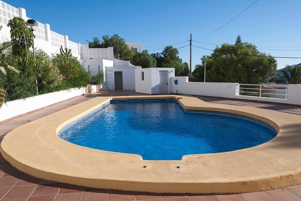 San jos almer a la casa de la piscina apartamentos en alquiler en san jos andaluc a espa a - Casas en san jose almeria ...