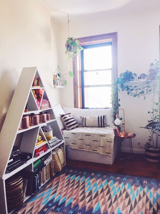 living room reading nook