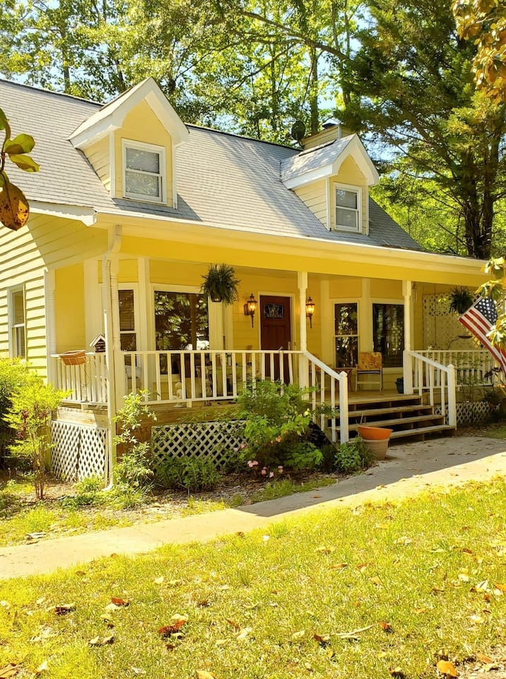 Charming Cape Cod House, no subdivision, fully wooded private backyard.