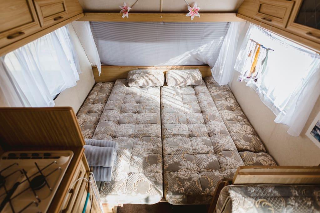 Rozłożona część sypialna