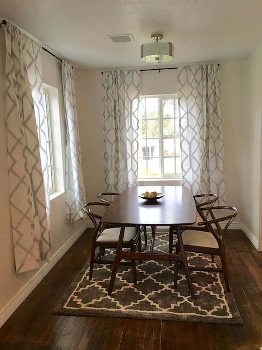 Dining room. Table can seat 6 comfortably.