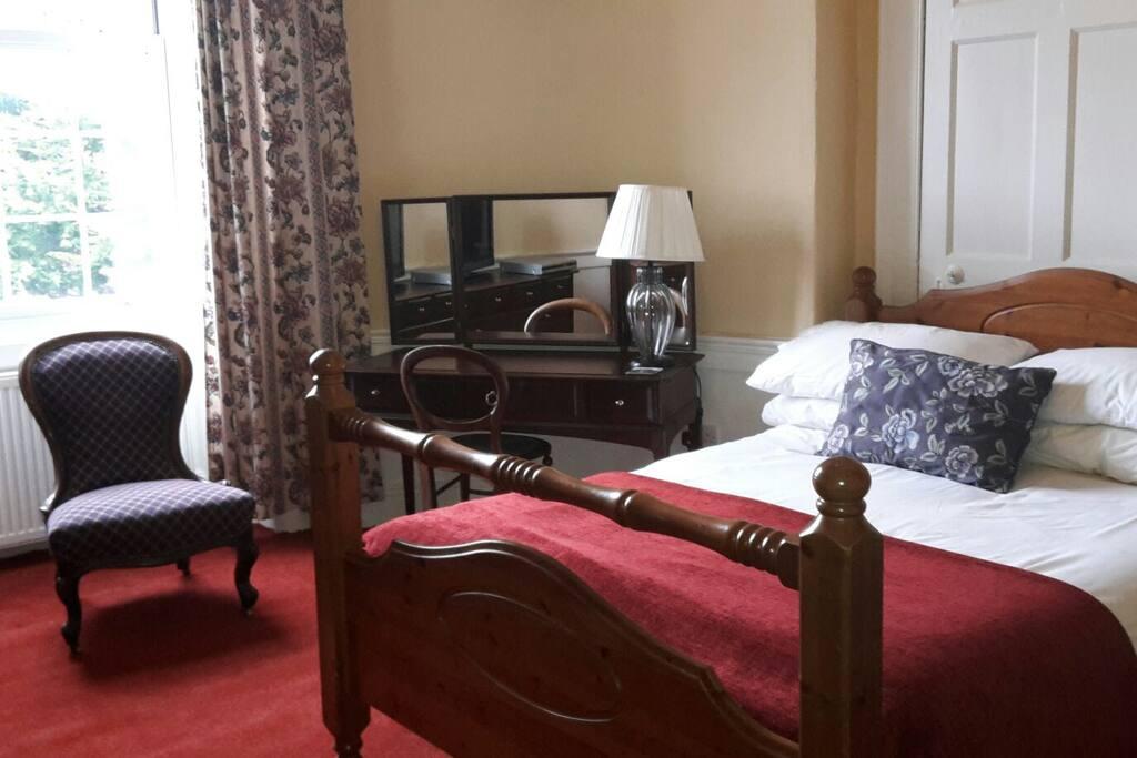 double bedroom over looking garden