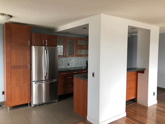Spacious, open & bright condo near LRT & DT