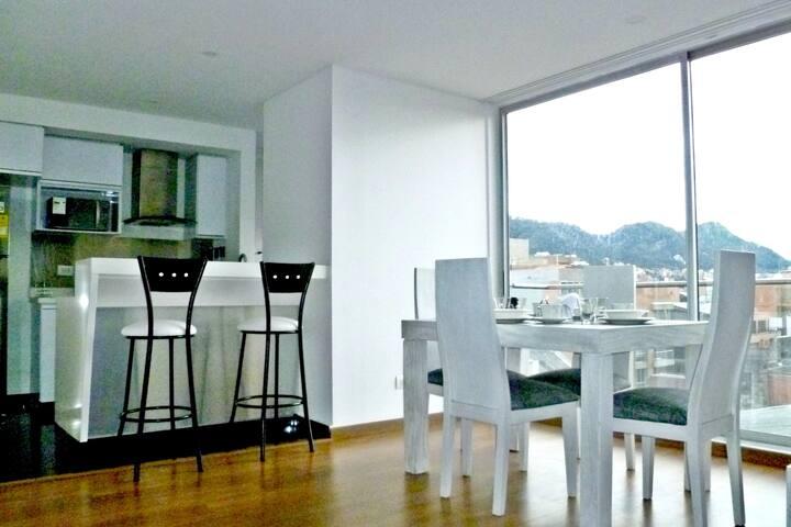 Moderno apartamento en el Norte de Bogotá