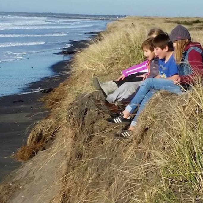 Kids love to explore the coastline!