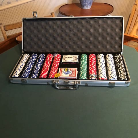 poker chips, cards, table and more family games