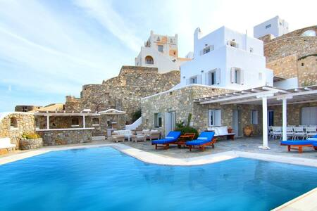 blueground villa, Ornos, pool, sea view - Ornos - Villa