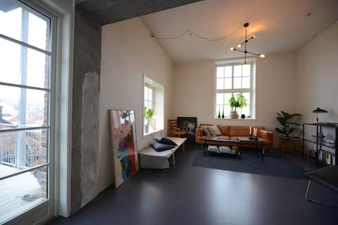 Central apartment in an old industrial building