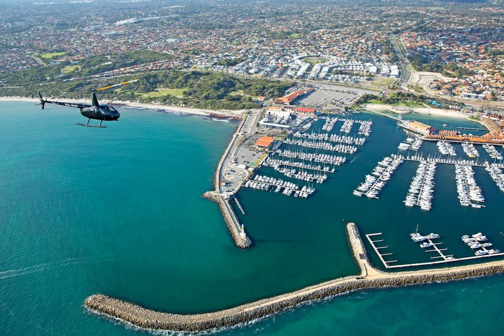 Aerial view of Hillarys Harbour.